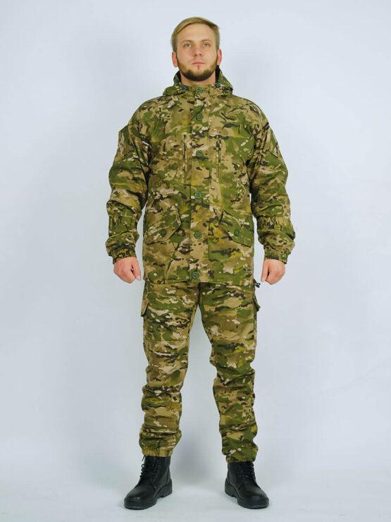 Демисезонный костюм INRUSKA TWIN, рип-стоп, мультикам (вид спереди) — магазин всегорки.рф