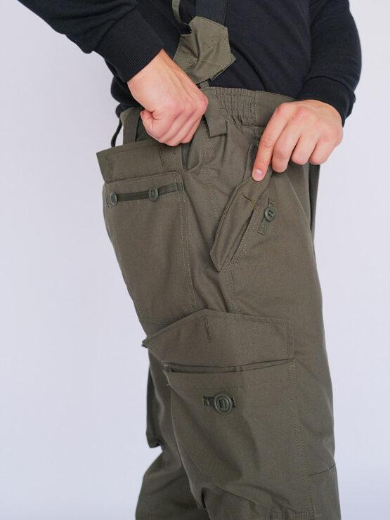 Карманы в брюках INRUSKA TWIN, рип-стоп, хаки — магазин всегорки.рф