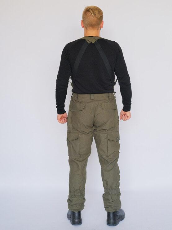 Брюки INRUSKA TWIN, рип-стоп, хаки (вид со спины) — магазин всегорки.рф