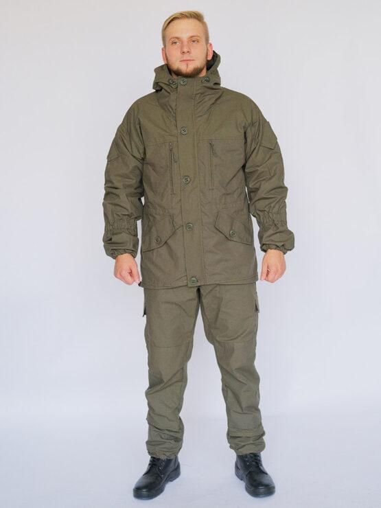 Демисезонный костюм INRUSKA TWIN, рип-стоп, хаки (вид спереди) — магазин всегорки.рф