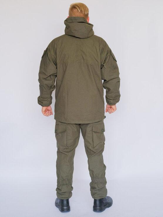 Демисезонный костюм INRUSKA TWIN, рип-стоп, хаки (вид со спины) — магазин всегорки.рф