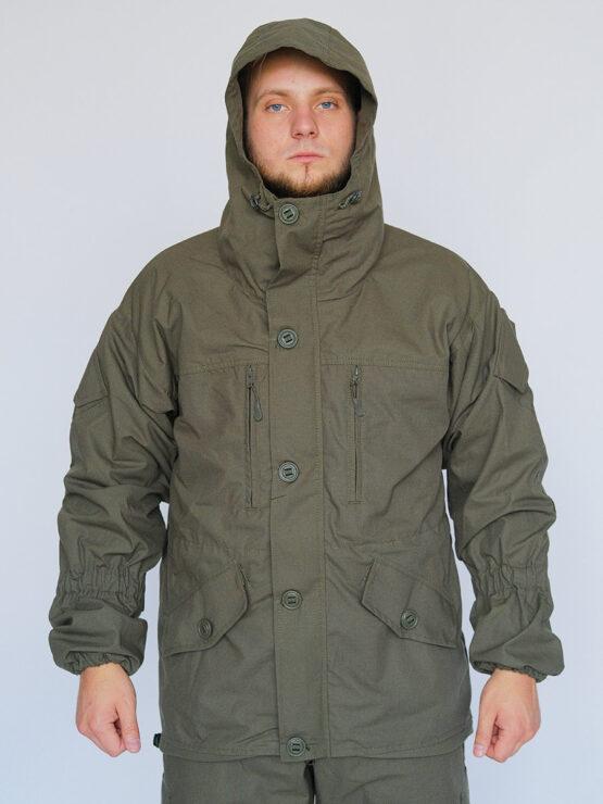 Капюшон в куртке INRUSKA TWIN, рип-стоп, хаки — магазин всегорки.рф