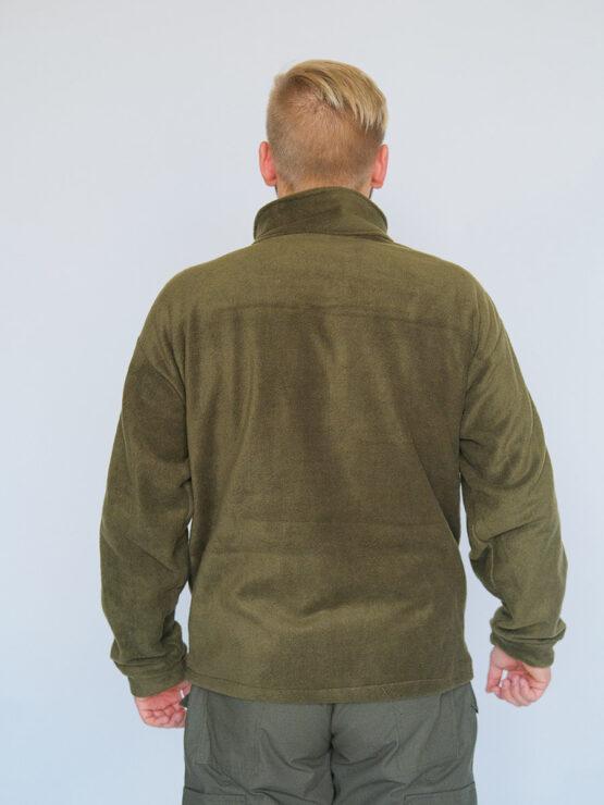 Флисовая кофта INRUSKA TWIN, рип-стоп, хаки (вид со спины) — магазин всегорки.рф
