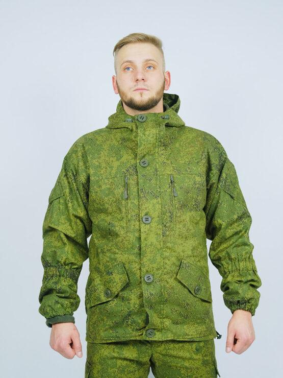 Куртка INRUSKA TWIN, зеленый пиксель (вид спереди)