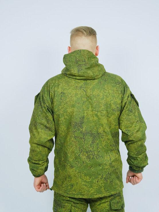 Куртка INRUSKA TWIN, зеленый пиксель (вид со спины)