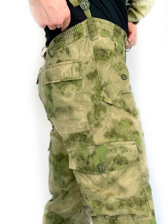 """Летний костюм """"Горка 5"""", сорочка, мох (брюки, вид сбоку) — магазин всегорки.рф"""