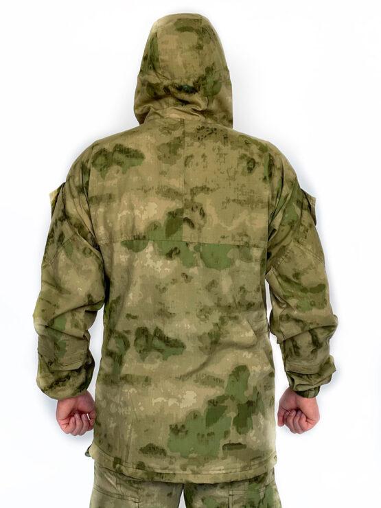 """Летний костюм """"Горка 5"""", сорочка, мох (вид со спины) — магазин всегорки.рф"""